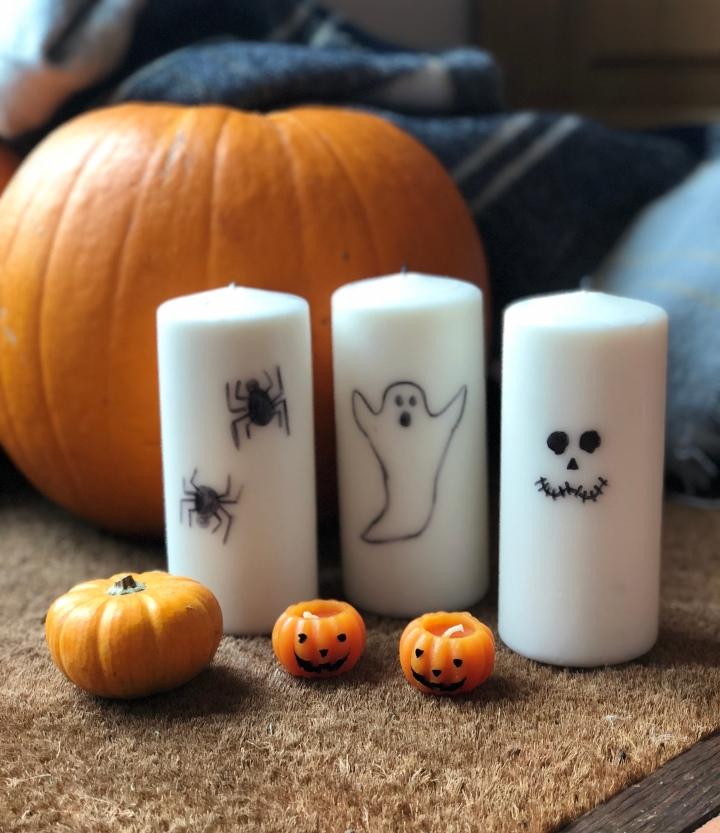 DIY Halloween Candles Decor